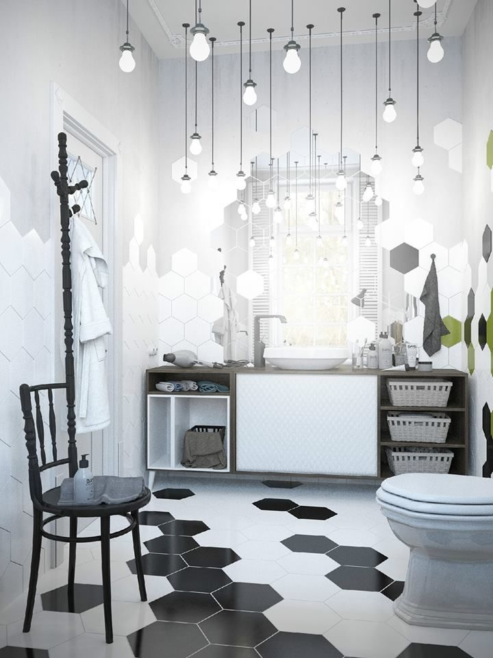 Scandinavian and Industrial style for a Russian apartment