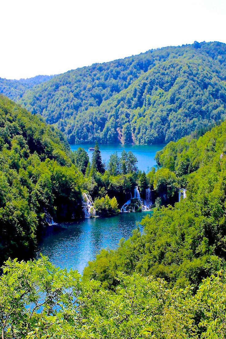 The waterfalls of Plitvice Lakes Croatia - a UNESCO world heritage site.