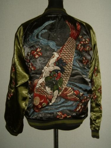 Animal-Fish-Carp-Red-Koi-Wagara-Yakuza-Satin-Punk-Rock-Sukajan-Skajan-Jacket