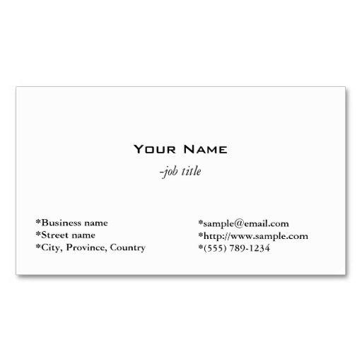 241 best Plain Minimalist Business Cards images on Pinterest ...