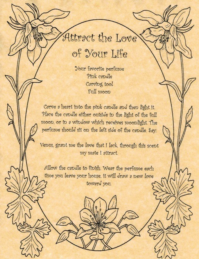 Attract the Love of Your Life - Book of Shadows Page - Real Love Spells in Collectibles | eBay