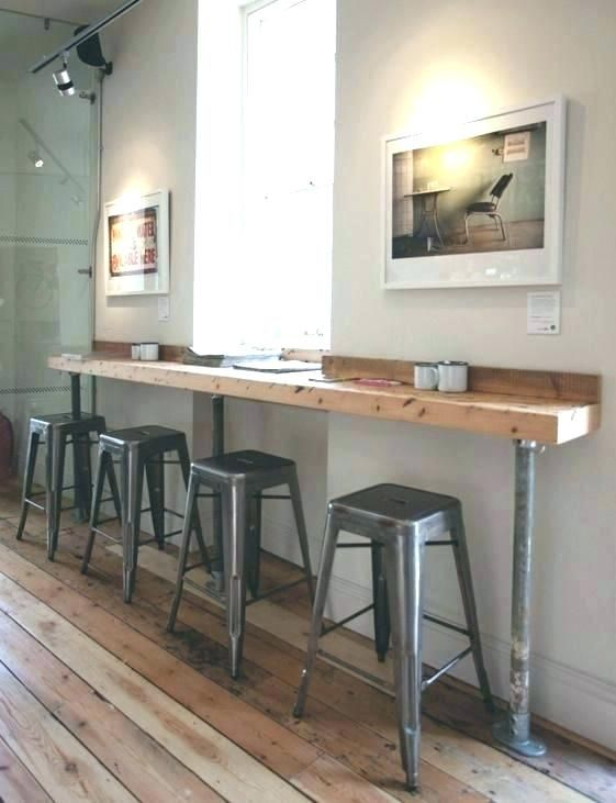 Basement With Bar Against Wall, Bar Table For Basement