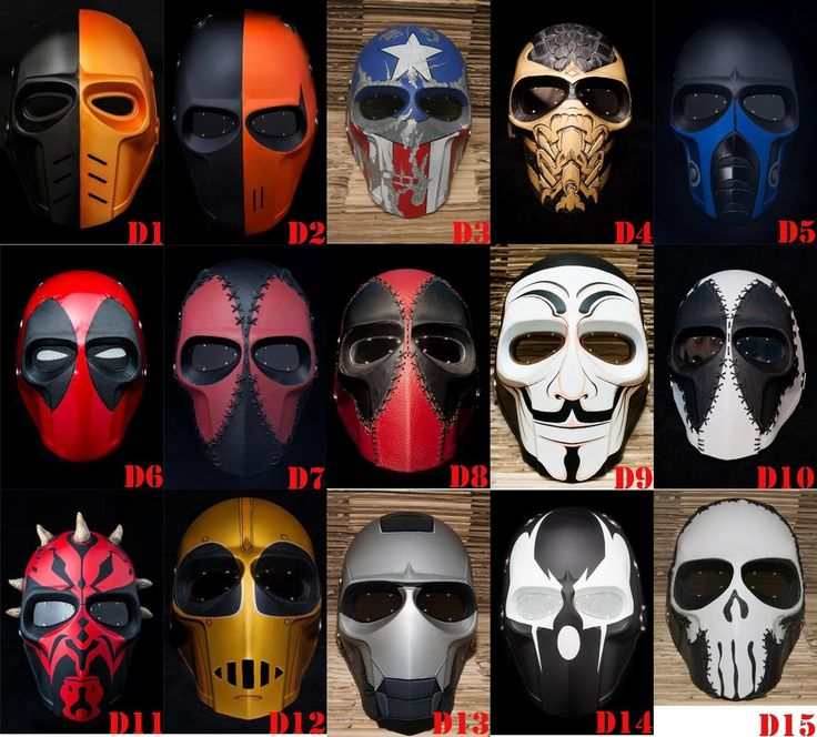 Army of Two Mask Paintball AirsoftT BB Gun Helmet Protective Gear Cosplay Comic #Handmade