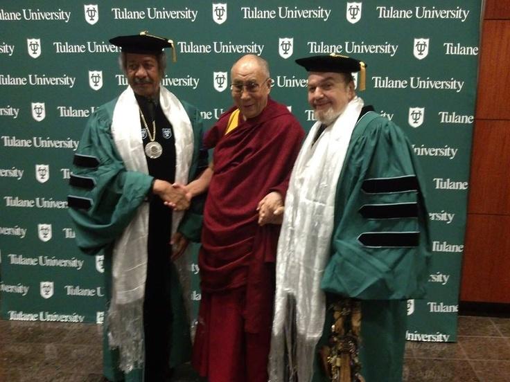 Dr. Allen Toussaint, Dr. Dalai Lama and Dr.Dr.John May 18,2013 Tulane University graduation