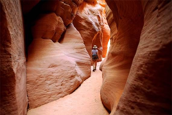 Escalante Slot Canyons : The beautiful and mysterious trail through Escalante Slot Canyons makes for a memorable hike.