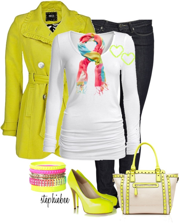 """""""Bold & Bright"""" by stephiebees on Polyvore"""