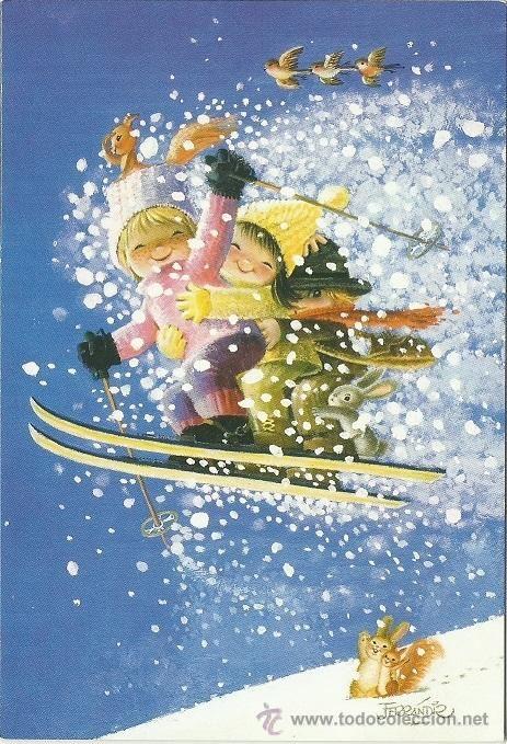 Juan Ferrándiz: Esquiando