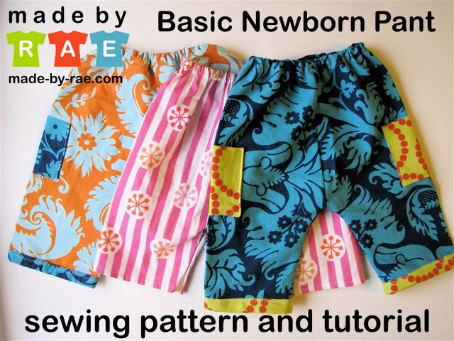 Free and easy baby pant tutorial.  Check out for easy summer shorts made from cotton scrap fabric for baby girl.  Maybe add ruffle to bottom of shorts?