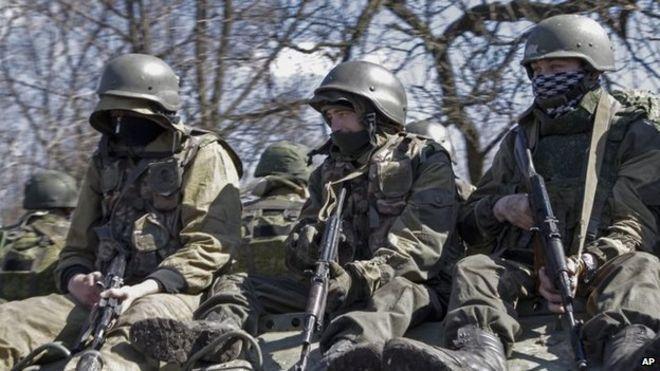 Anime indonesia: Krisis Ukraina: 'pasukan khusus Rusia' ditangkap