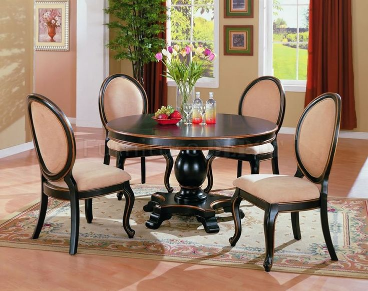 Two Tone Elegant Dining Room Set With Round Table Unique Picture Ecefbfcfbfeae Image X