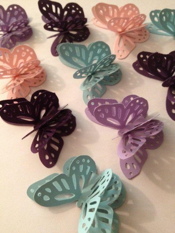 3D Paper Butterflies by MonAmiePaperie on Etsy, $9.99