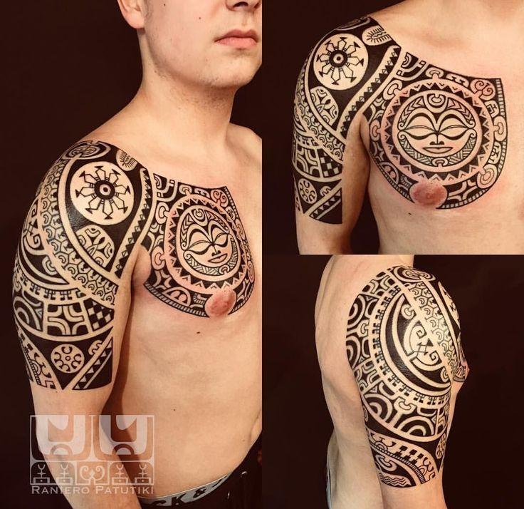 Marquesan Tattoo free hand @iristatau Erding/Germany Info:www.ranieropatutiki.tattoo #ranieropatutiki #marquesantattoo #polynesiantattoo #tribaltattoo #marquesantattoostatoo