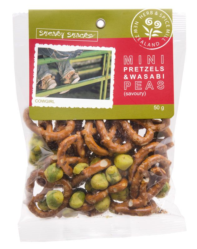 Mini Pretzels & Wasabi Peas - The Herb and Spice Mill