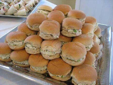 Mini Chicken Salad Sandwiches                                                                                                                                                                                 More
