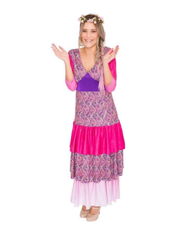 950f76b81f38a5 Kleid Flower Power Damen pink für Karneval   Fasching » Deiters   Flowerpower  hippie