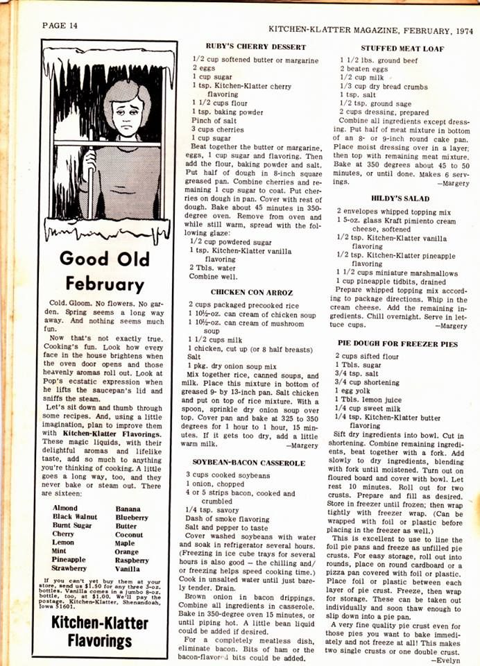 Kitchen Klatter Magazine - Feb 1974 Page 14 • LIKE Kitchenista •-----> http://gourl.us/1pwH