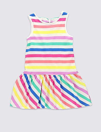 from £6 Pure Cotton Striped Dress (1-7 Years) | M&S