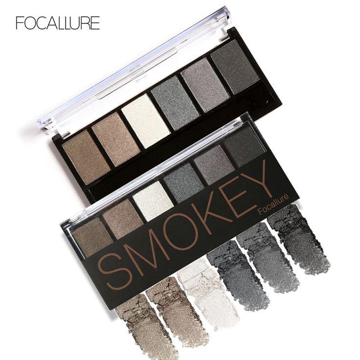 Professionele 6 Kleuren Oogschaduw Palet Glamoureuze Smokey Oogschaduw Shimmer Kleuren Make Kit door Focallure