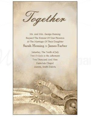 Western Wedding Invitation Wording