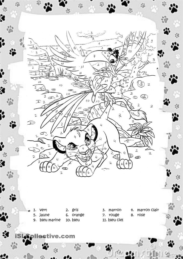 Outstanding Coloriage 08 Le Roi Lion Pumbaa Composition - Framing ...