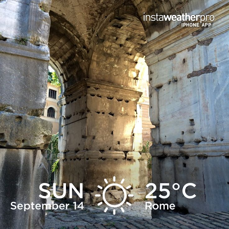 Weather in Rome in September is practically perfect!