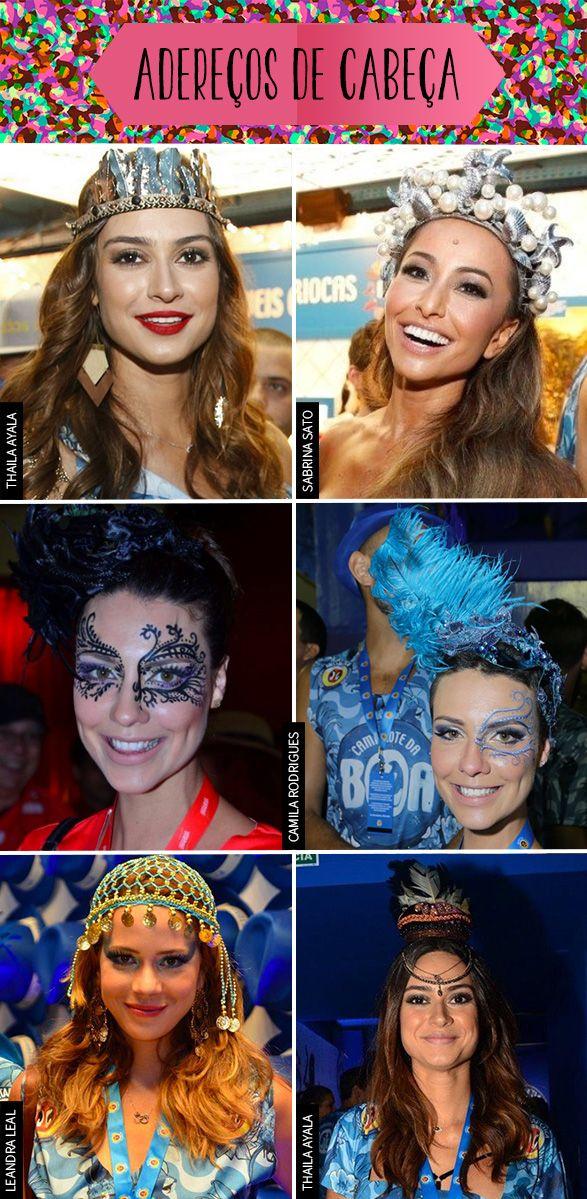 Essas inspirações de make e adereços vão resolver seu Carnaval!