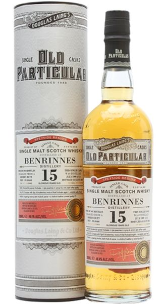 Mostly the whisky from this distillery is used for the blend industry e.g. for Dewar's White Label and Johnnie Walker. There are only a few distillery expressions and the bulk of the single malt from Benrinnes is bottled by independent bottlers. #benrinnes #douglaslaing #oldparticular