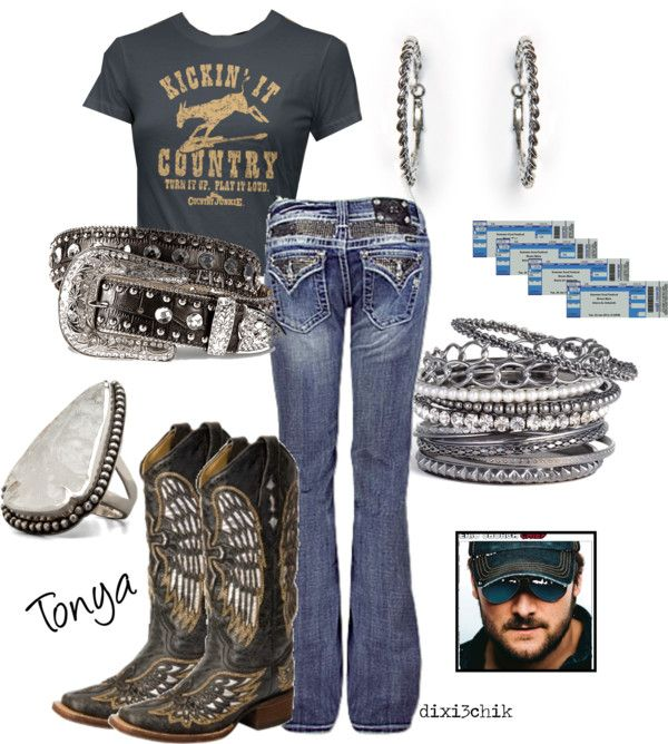 "concert attire...really?!  this is my EVERYDAY wear, don't just rock country ""for a concert"", IT'S A LIFE STYLE!!"