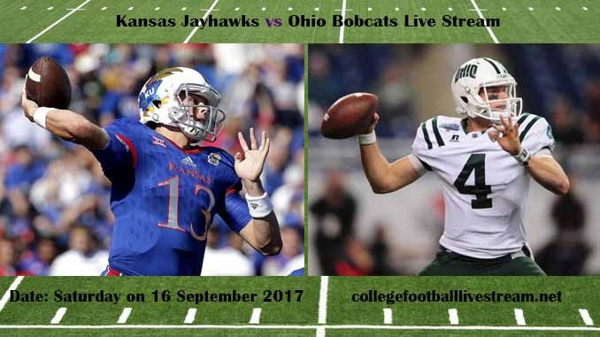 Kansas Jayhawks vs Ohio Bobcats Live Stream Teams: Jayhawks vs Bobcats Time: 2:00 PM ET Week-3 Date: Saturday on 16 September 2017 Location: Paden Stadium, Athens, OH TV: ESPN NETWORK Kansas Jayhawks vs Ohio Bobcats Live Stream Watch College Football Live Streaming Online The Kansas Jayhawks...