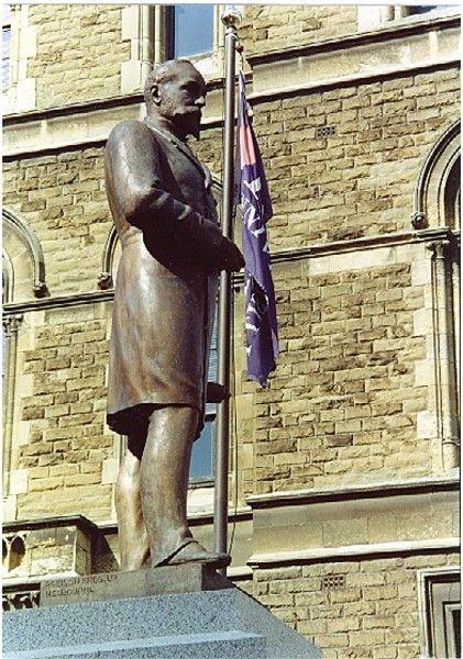 Francis Ormond Statue by Percival Ball. 1892.  124 Latrobe Street, MELBOURNE, MELBOURNE CITY. Victoria Australia.
