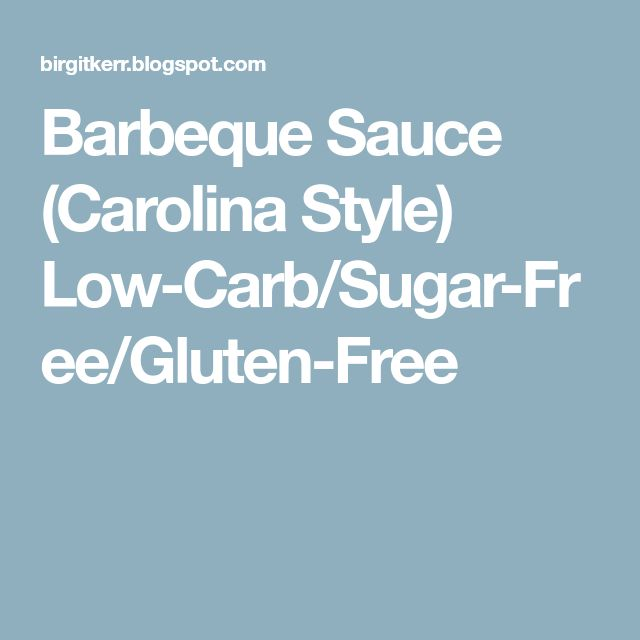 Barbeque Sauce (Carolina Style) Low-Carb/Sugar-Free/Gluten-Free