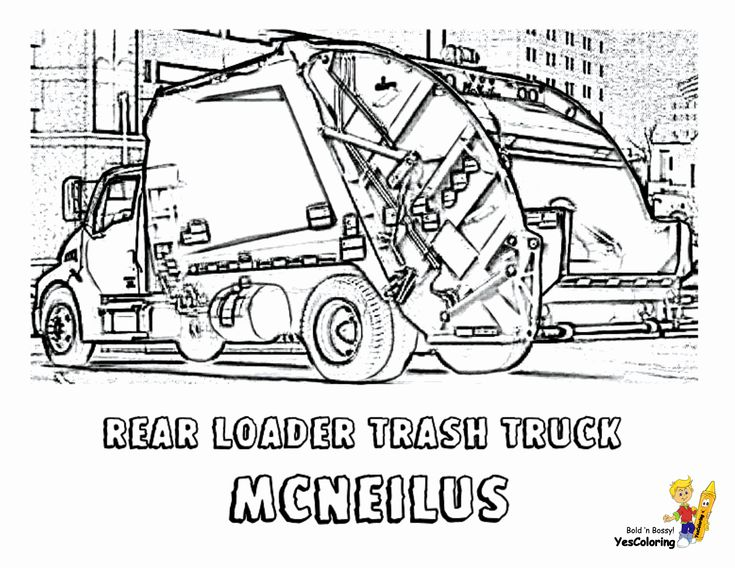 24 Garbage Truck Coloring Page in 2020 | Truck coloring ...