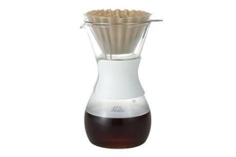 """An attractive way to brew and serve via the Kalita Wave brewing dynamic, the """"Wave Style Set"""" is a dripper and flask combination set that looks great on the coffeebar and the table."""