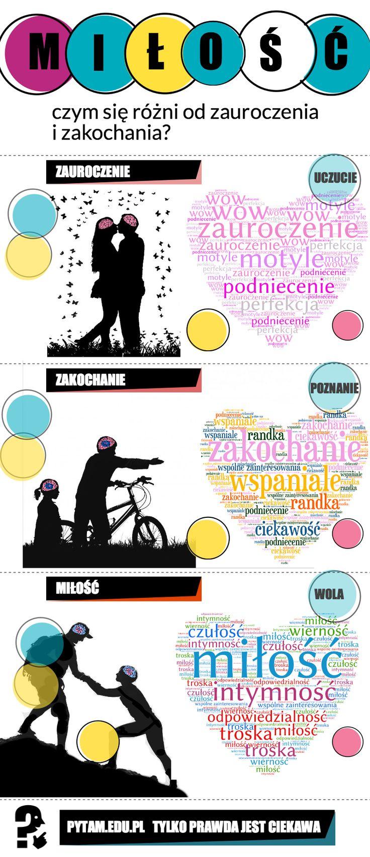 Czy zauroczenie, zakochanie i miłość to to samo?  infografika