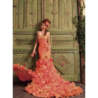 誰もが大好き♡ピンクのマーメイド ウェディングドレス・カラードレス・花嫁衣装のまとめ一覧♡