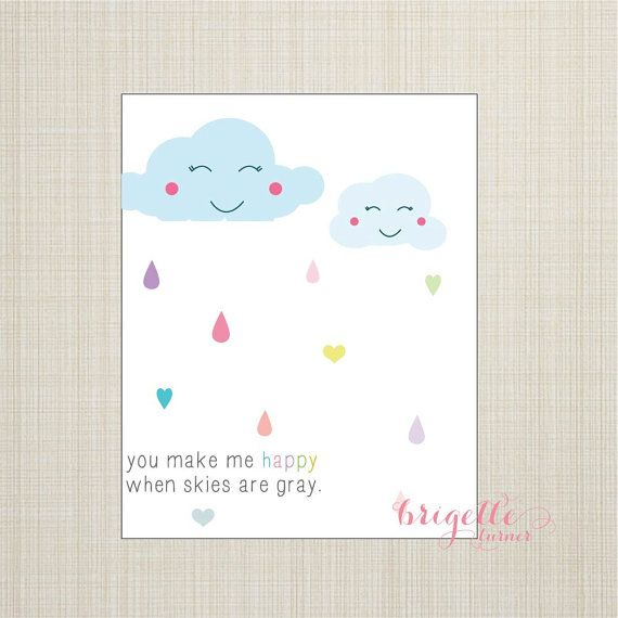 Wall Art Print / Children / Nursery / You Are My Sunshine