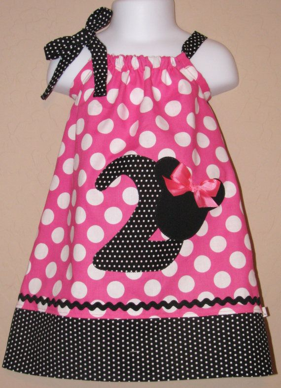 CUSTOM Disney Minnie Mouse Inspired Baby Toddler Dress - A-line Pillowcase Dress- Pink White Dots - Great for Disney Trips and Birthdays & 50 best Juliana\u0027s 2nd Birthday images on Pinterest   2nd birthday ... pillowsntoast.com