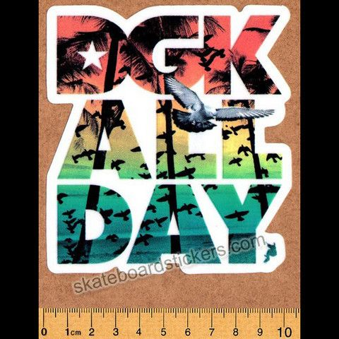 DGK - Jamaica All Day - Dirty Ghetto Kids Skateboard Sticker…
