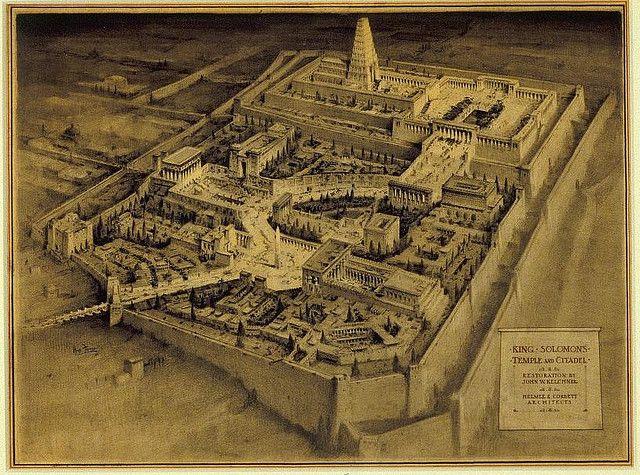 Hugh Ferriss - King Solomon's Temple and Citadel