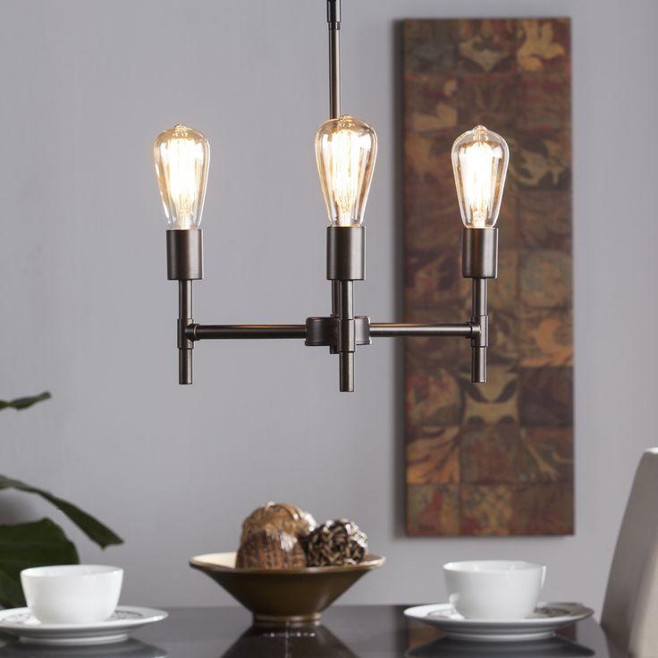 Harper Blvd Saturio 3-Light Semi-Flush Mount Ceiling Light (OS2081TL), Black (Steel)
