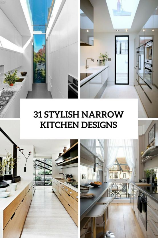 6066 best images about kitchen on pinterest kitchen for Small narrow kitchen designs