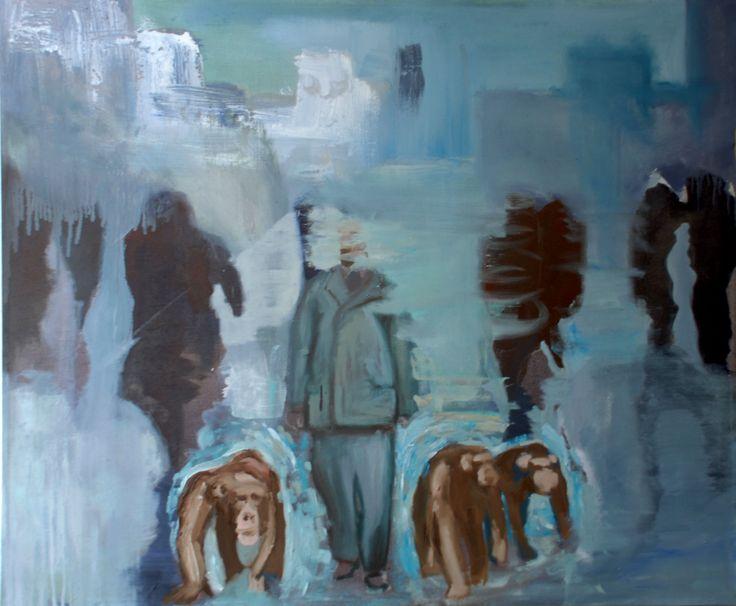 evolution utopia  Oil on canvas by David Nemeth