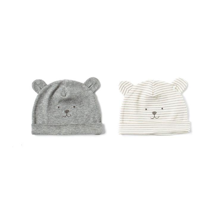 Image 1 de Lot de 2 paires de bonnets petits ours de Zara
