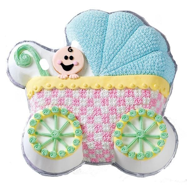 Baby Buggy Cake (make with Baby Buggy Pan by Wilton)