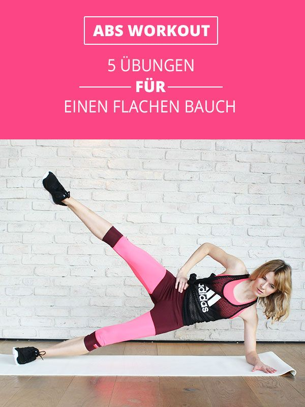 5 bungen f r einen flachen bauch fitness workout fitgirl fitness women pinterest. Black Bedroom Furniture Sets. Home Design Ideas