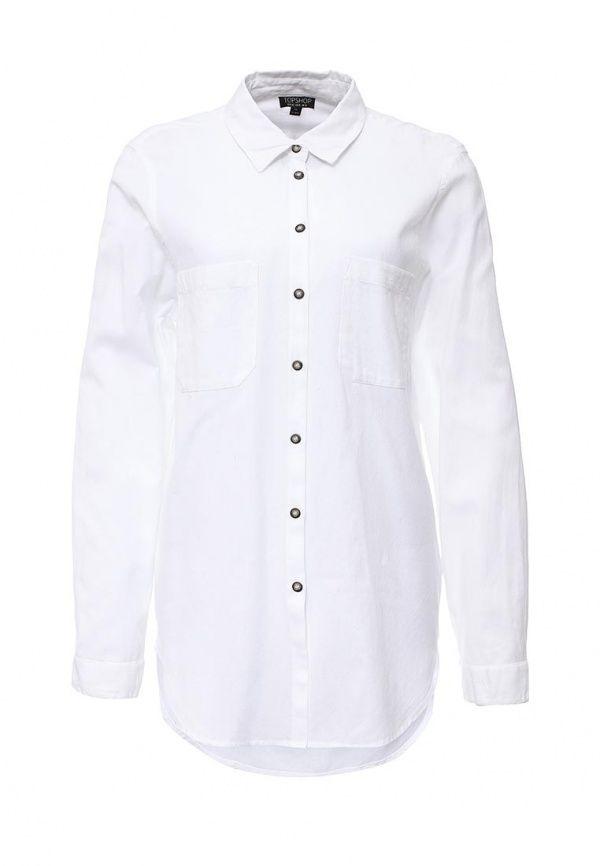 Блуза Topshop  Блуза Topshop. Цвет: белый.  Сезон: Весна-лето 2016. Одежда, обувь и аксессуары/Женская одежда/Одежда/Блузки и кофточки