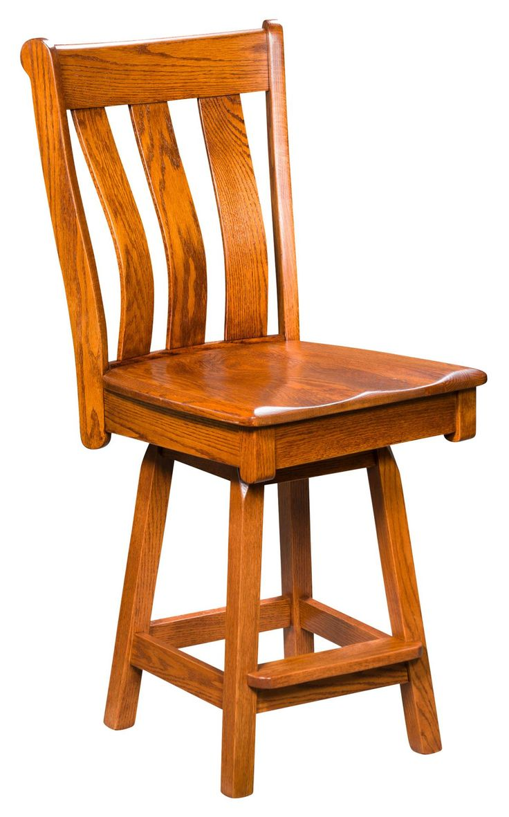 Amish Vancouver Swivel Bar Stool Enjoy the versatility of mission style bar chairs handcrafted with solid wood.