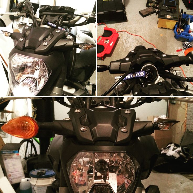New flashers on the Yamaha FZ-07 trying out Kimpex's Chaft flashers