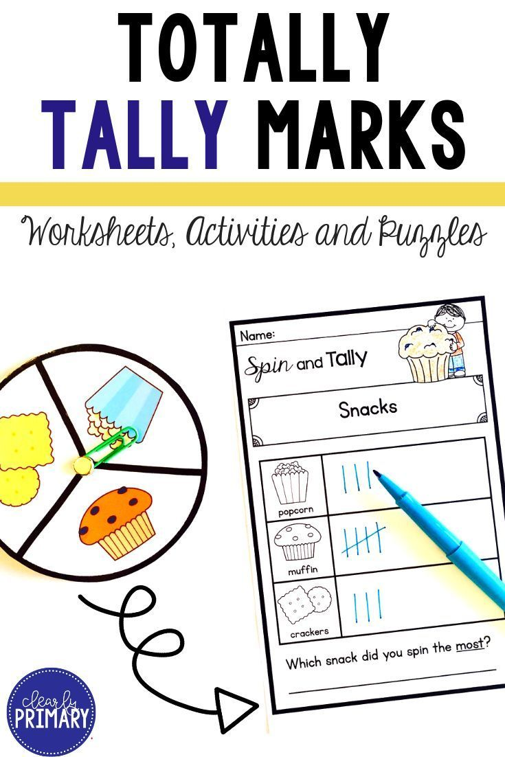 Tally Marks Worksheets Activities Puzzles Kindergarten Math Activities First Grade Activities Tally Marks