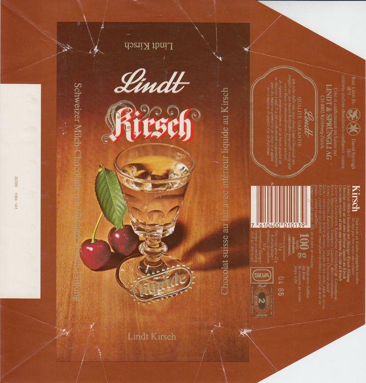 Kirsch  Milchschokolade mit flüssiger Kirsch-Füllung 1985